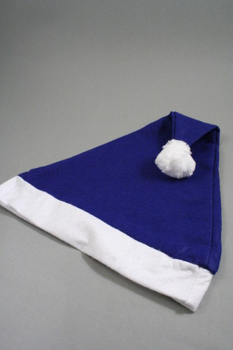 7569ea51ca766 Christmas Santa Hat in Blue with White Trim. Approx Circumference 58cm -  60cm